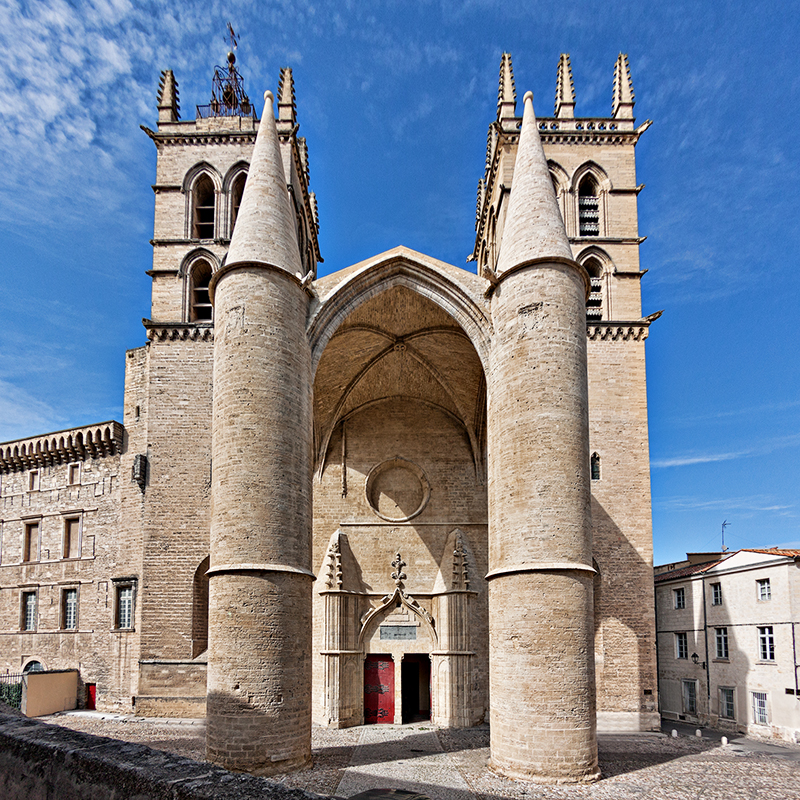 French language courses school vacation study abroad montpellier france - Cathedrale saint pierre de montpellier ...